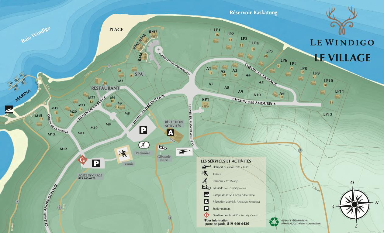 Plan Le Windigo Baskatong location Québec Canada